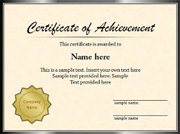 samples of certificates sample graduation certificate template powerpoint