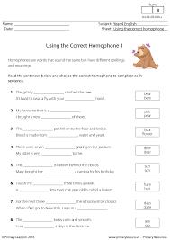 77 FREE Homophones Worksheets