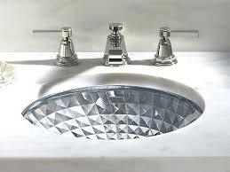 kohler glass sink glass sink kohler blue glass sink
