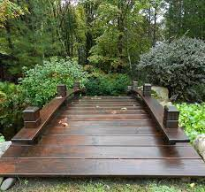 backyard bridges garden bridge design