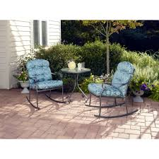 Models Patio Furniture Sets Walmart Willow Springs Rocking Outdoor Bistro Set Seats 2 Intended Creativity Ideas