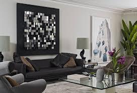 Living Room Black Leather Sofa Contemporary Interior Project 910 By Kiko Salomalbo Arquitetura