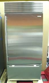 sub zero bi 36 sub zero bi o panel ready refrigerator freezer w stainless door panel sub zero bi 36