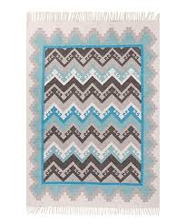 blue gray indoor outdoor geometric rug