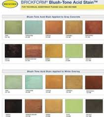 Brickform Acid Stain Color Chart Outside Ideas