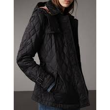 Quilted Trench Jacket with Detachable Hood in Black - Women ... & Quilted Trench Jacket with Detachable Hood in Black - Women | Burberry  United States - gallery Adamdwight.com