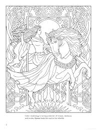 Goddess Coloring Page Epona Celtic