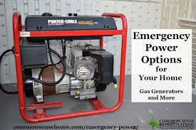 Emergency Power Options for Your Home Gas Generators and More