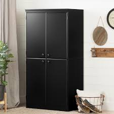 black storage cabinet. Fine Black South Shore Morgan Pure Black Storage Cabinet Intended M