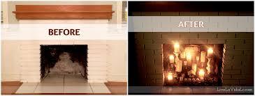 rustic fau fireplace candle display livin la vida lo candles
