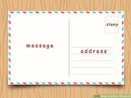 Postcard How To Address How To Write A Postcard With Sample Postcards Wikihow