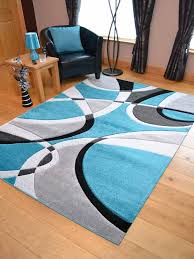 teal blue silver black grey modern soft thick rugs small extra large mats