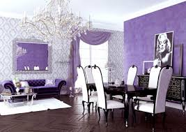 Lavender Dining Room Chairs Purple And Gold Kitchen Table Dark ...