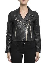 isabel marant etoile leather jacket aken nappa crop jacket