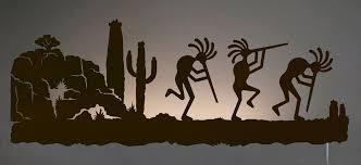 trusted kokopelli wall art in desert southwest scene back lit night light 42 inch mood lighting