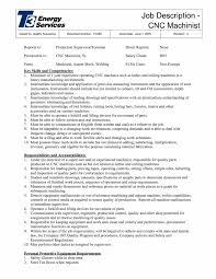 Machinist Job Description Resume Machine Operator Job Description Resume Professional Cnc Machinist S 2