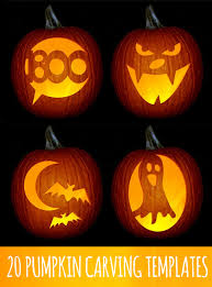 3 Days Before Halloween: Pumpkin Carving -- 20 pumpkin templates - I like  these. (Not super complicated)