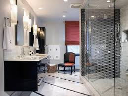 black white and gray bathrooms