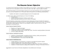 General Banking Resume Resume Objectives For General Job General