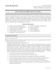 resume documentdocument control manager resume
