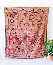 vintage moroccan boujad rug the frances berber kilim faded pink kilim rug