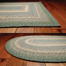 homee decor baja blue cotton braided rug rectangle roost and galley