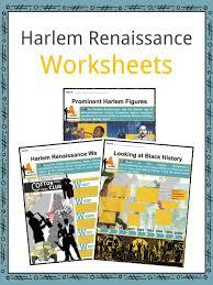 Harlem Renaissance Facts Worksheets Movement Music