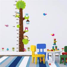 Kids Height Chart Kids Height Chart Wall Sticker Home Decor Cartoon Owl Tree Monkey Height Ruler Home Decoration Room Decals Wall Art Stickers Wall Sticker Deals Wall