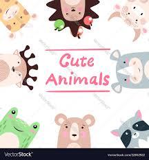 <b>Giraffe</b> bull rhino <b>raccoon bear</b> frog <b>deer</b> Vector Image