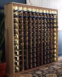 wine rack lighting. 144 redwood deluxe with custom led lighting modernwinecellar wine rack t