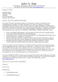 Technology Cover Letter Example Information Technology Cover