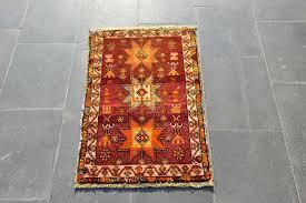 details about 1 7x2 7ft turkish anatolian vintage small carpet handmade antique oriental rug