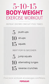 5 10 15 body weight exercise workout