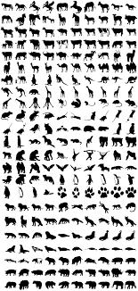 動物シルエット素材 無料ダウンロード