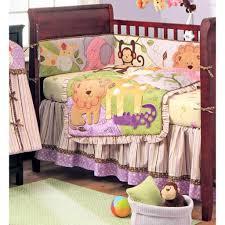 bedroom cheerful forest animal purple crib bedding set for baby boy baby girl crib