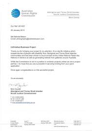Official Letter Format Australia Australian Human Rights Commission Mick Gooda Unfinished