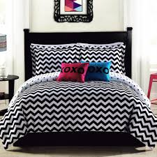 bedding bedroom black and white full size forted set with