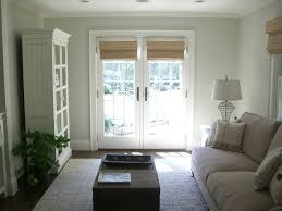 exterior shades for french doors. shades-for-french-doors-living-room-beach-with-bamboo-blinds-coastal-cottage | beeyoutifullife.com exterior shades for french doors