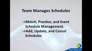 Sports Team Schedule Maker Sports Scheduling Software League Schedule Maker From Thapos