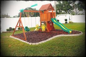 exterior diy backyard playground landscaping picture with mesmerizing play area flooring ideas for toddlers playsets image