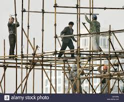 Scaffold Builders Scaffold Builders In Shanghai Stock Photo 111800595 Alamy