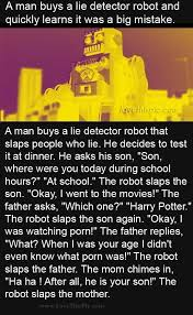 A Man Buys A Lie Detector Robot And Quickly Learns It Was A