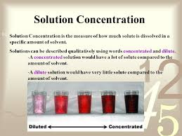 Concentration Of Solutions Solution Concentration Ppt Video Online Download