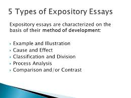 essays senior high english ppt  5 types of expository essays