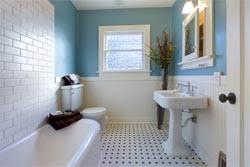 Bathroom Redesign Blue  Money Crashers