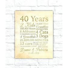 fantastic 40th wedding anniversary traditional gift and gallery of unique 40th wedding anniversary traditional gift h2837626