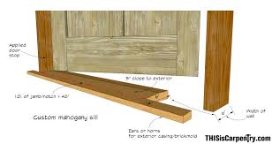exterior door sill detail. shop door sill_1-1 exterior sill detail