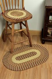 m nylon country green braided rug chair pad