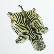 image 0 zebra hide rug small cowhide miniature faux for