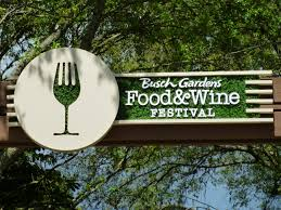 food wine festival and beautiful topiaries at busch gardens ta